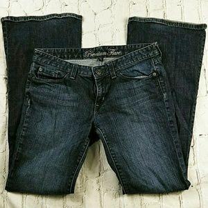 Gap Premium Flare Denim Blue Jeans 6 R Regular